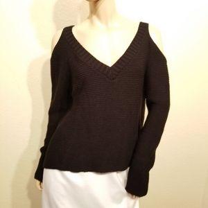 New Charlotte Russe XL Black Cold Shoulder Sweater